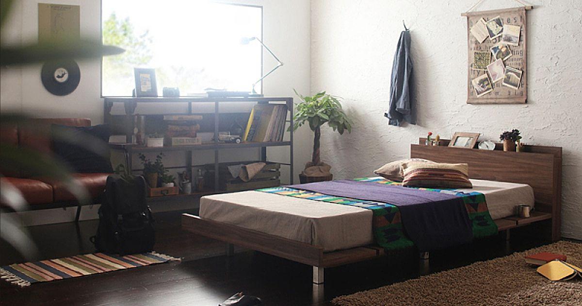 一人暮らしの男性のベッド