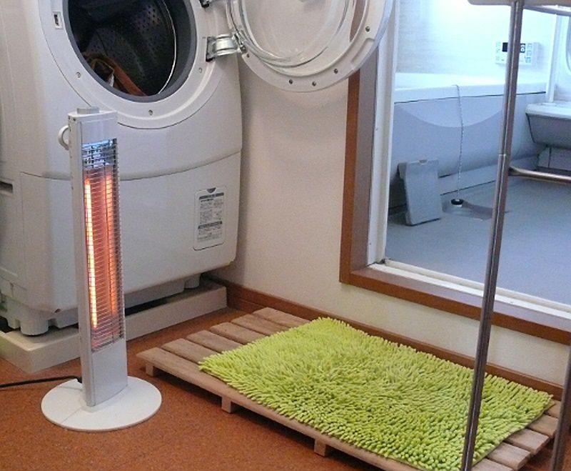 風呂上がりの暖房